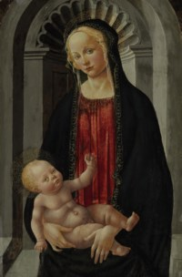 The Madonna and Child enthroned in a niche