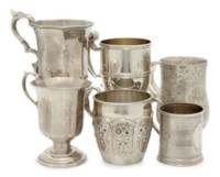 THIRTEEN AMERICAN SILVER CHRISTENING CUPS,
