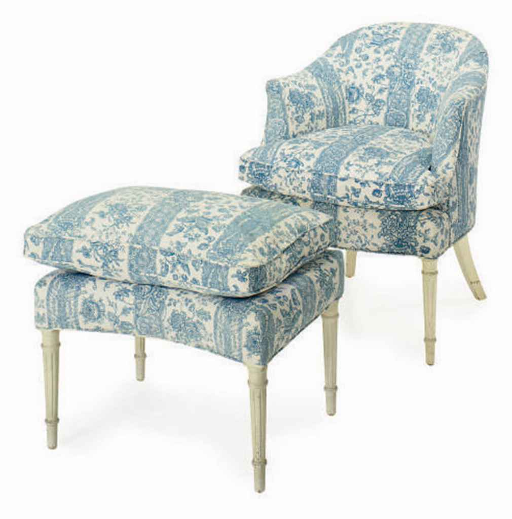 Magnificent A French Cream Painted And Blue And White Toile Upholstered Machost Co Dining Chair Design Ideas Machostcouk