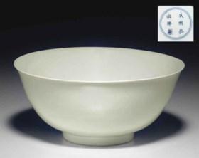 A FINE AND RARE WHITE-GLAZED BOWL
