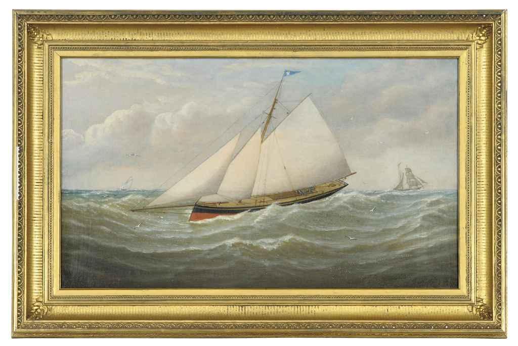 A sailing vessel at sea