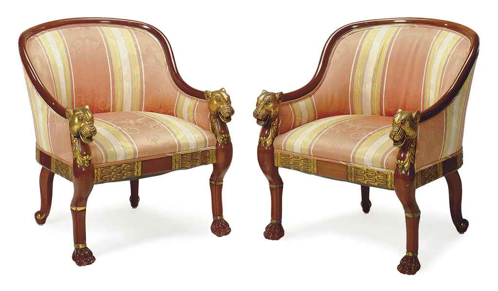 A PAIR OF FRENCH PARCEL-GILT M