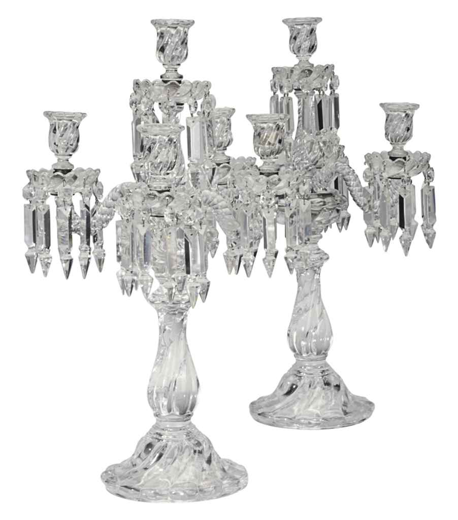 A PAIR OF FRENCH MOLDED AND CU