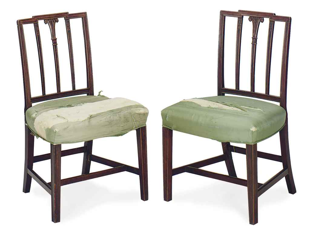 A PAIR OF ENGLISH MAHOGANY SID
