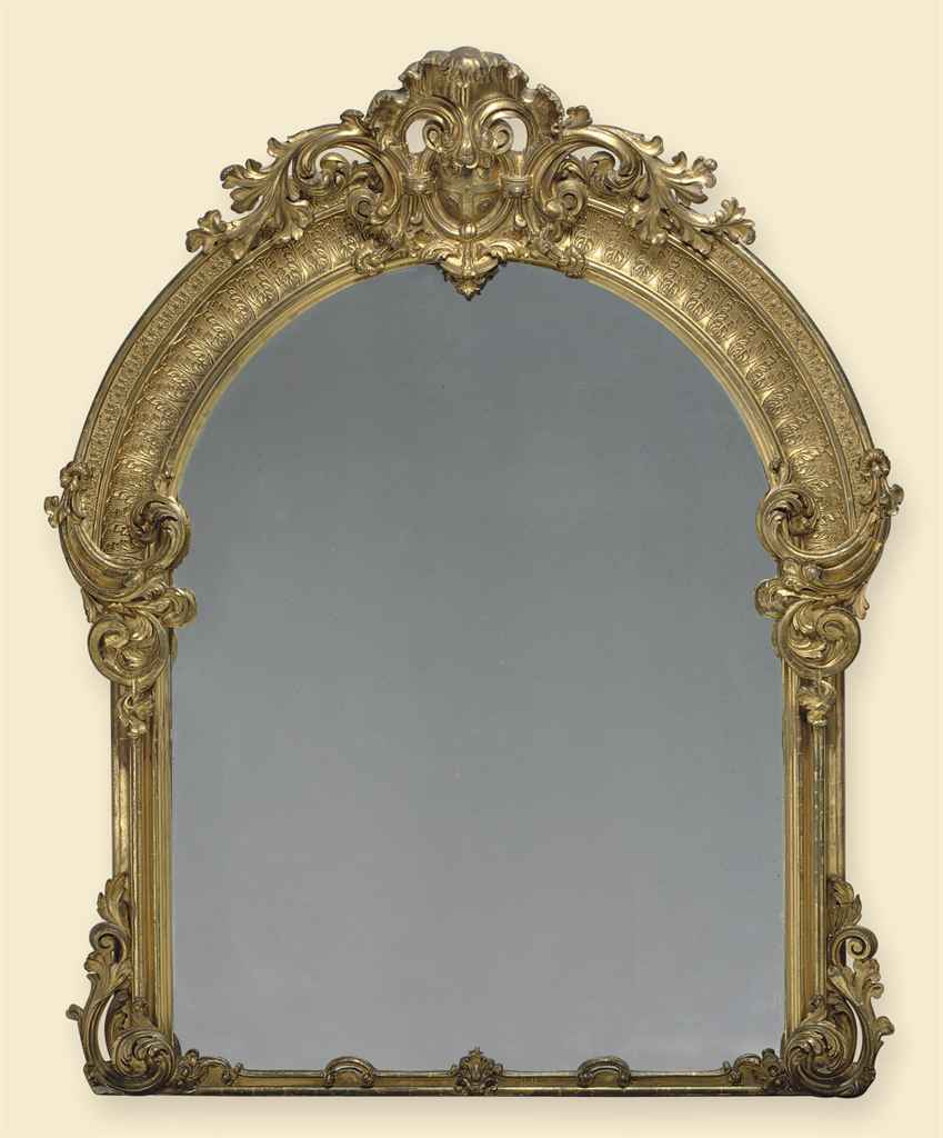 A MASSIVE FRENCH GILTWOOD OVER
