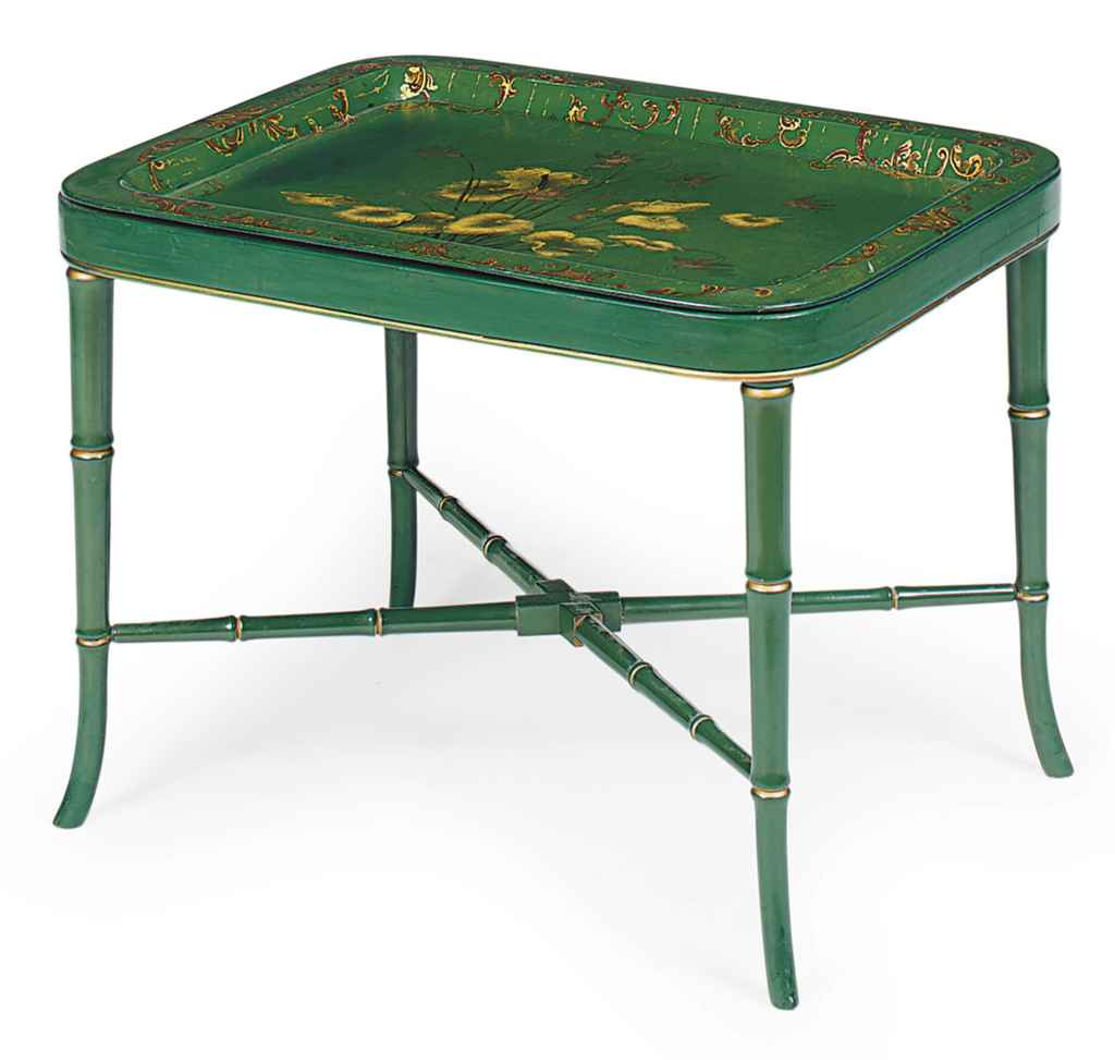 A VICTORIAN GREEN-PAINTED AND