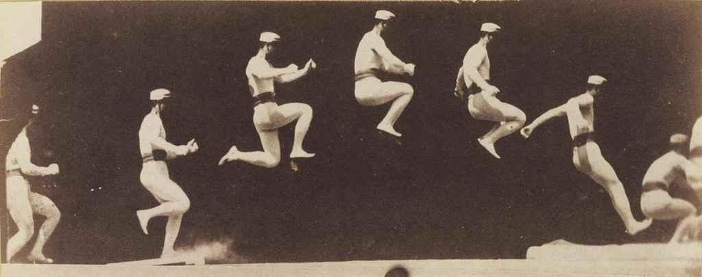 Chronophotographie du saut en longeur, 1882-1883