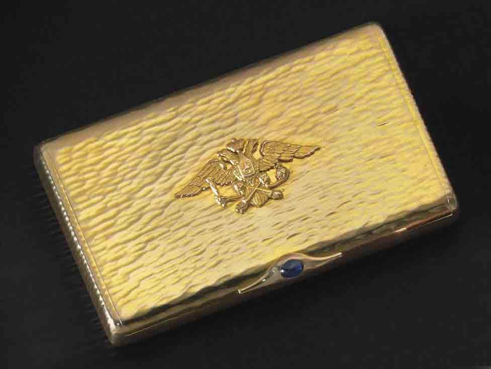 A Gold Imperial Presentation Cigarette Case