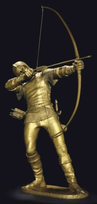 A Gilt Bronze Figure of an Archer