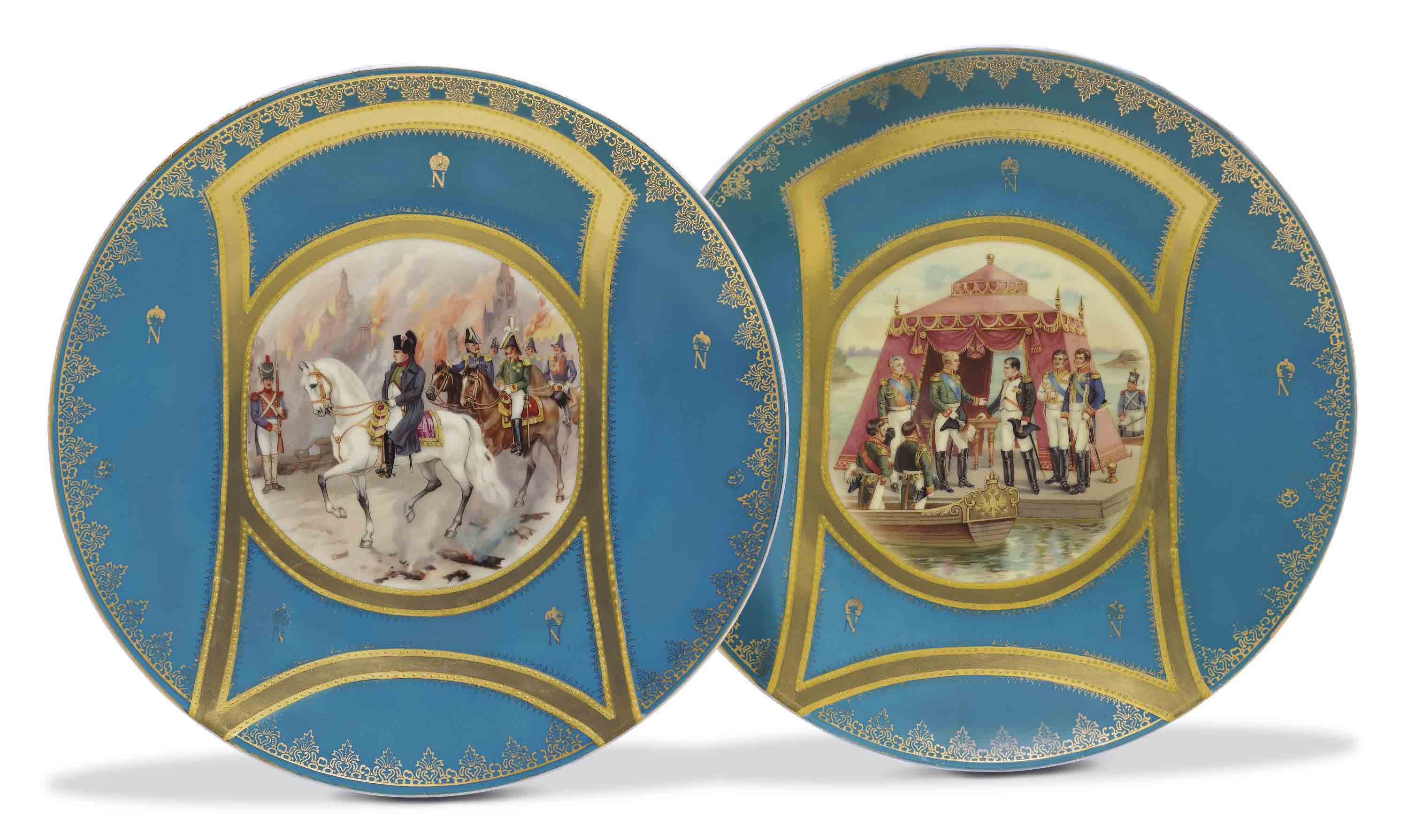 A Pair of Porcelain Platters