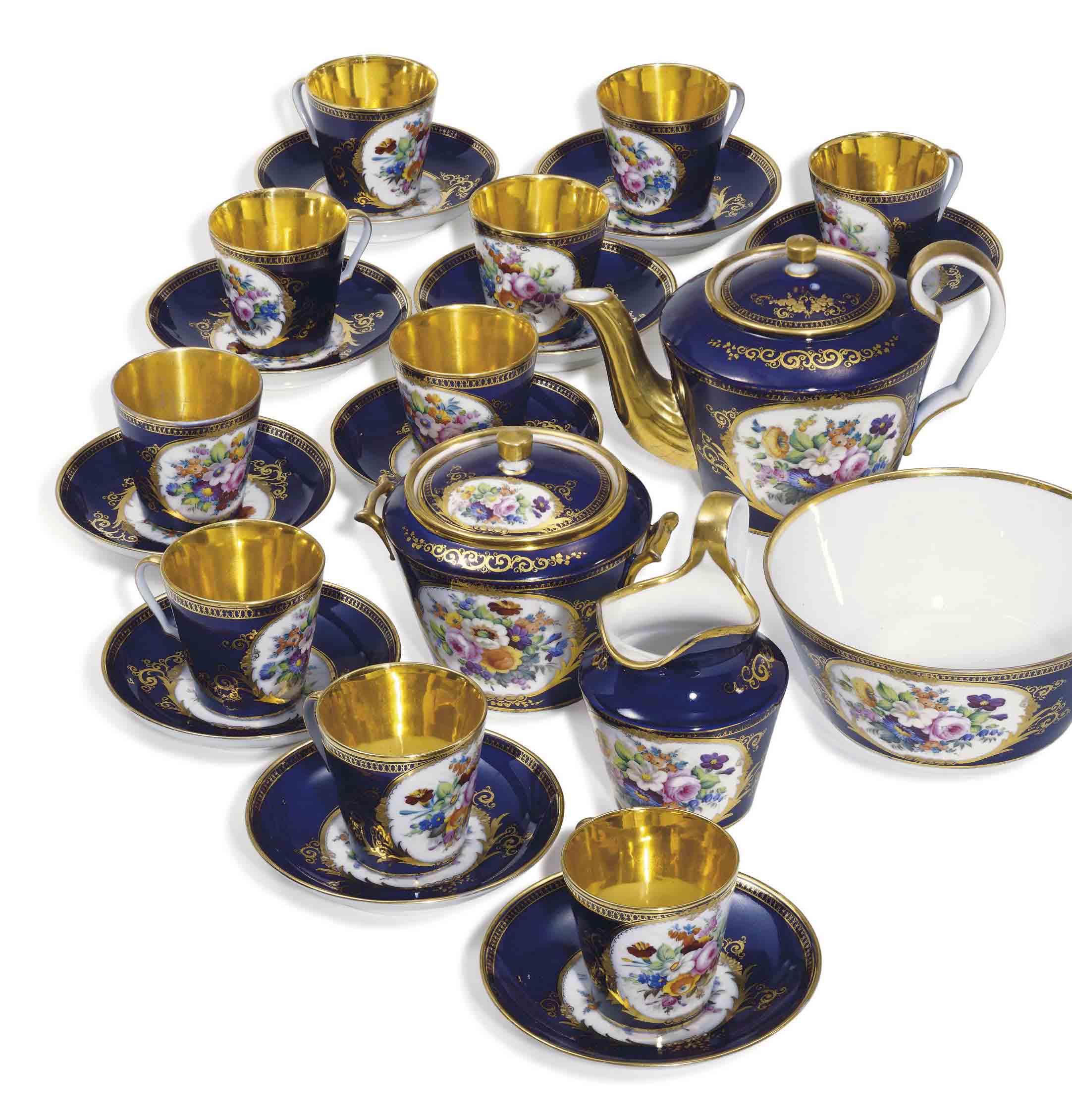 A Porcelain Tea Service
