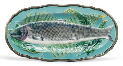 A WEDGWOOD MAJOLICA TURQUOISE-