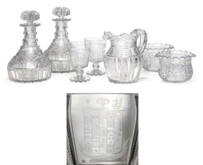A REGENCY CUT-GLASS ARMORIAL P