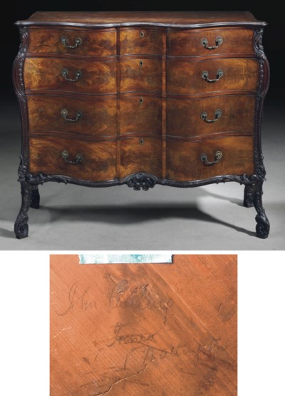 A GEORGE III MAHOGANY LARGE CO