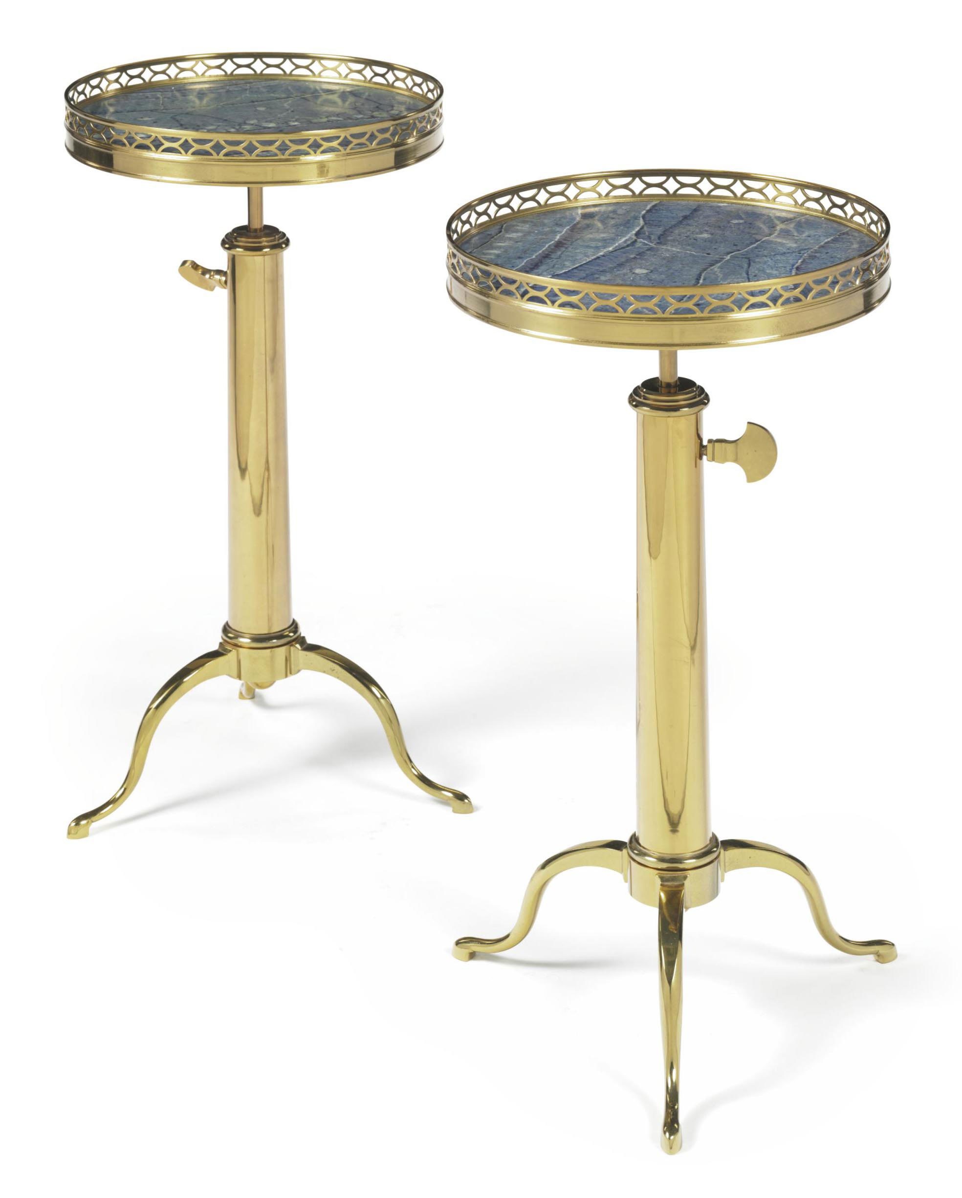 A PAIR OF FRENCH BRASS AND FAU