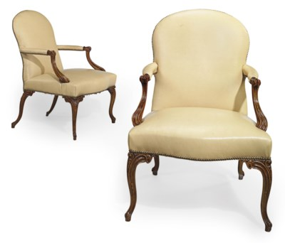 A PAIR OF GEORGE III STAINED B