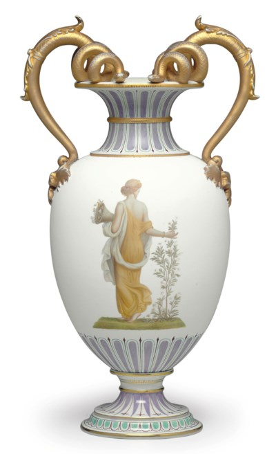 A BERLIN PORCELAIN WHITE AND L