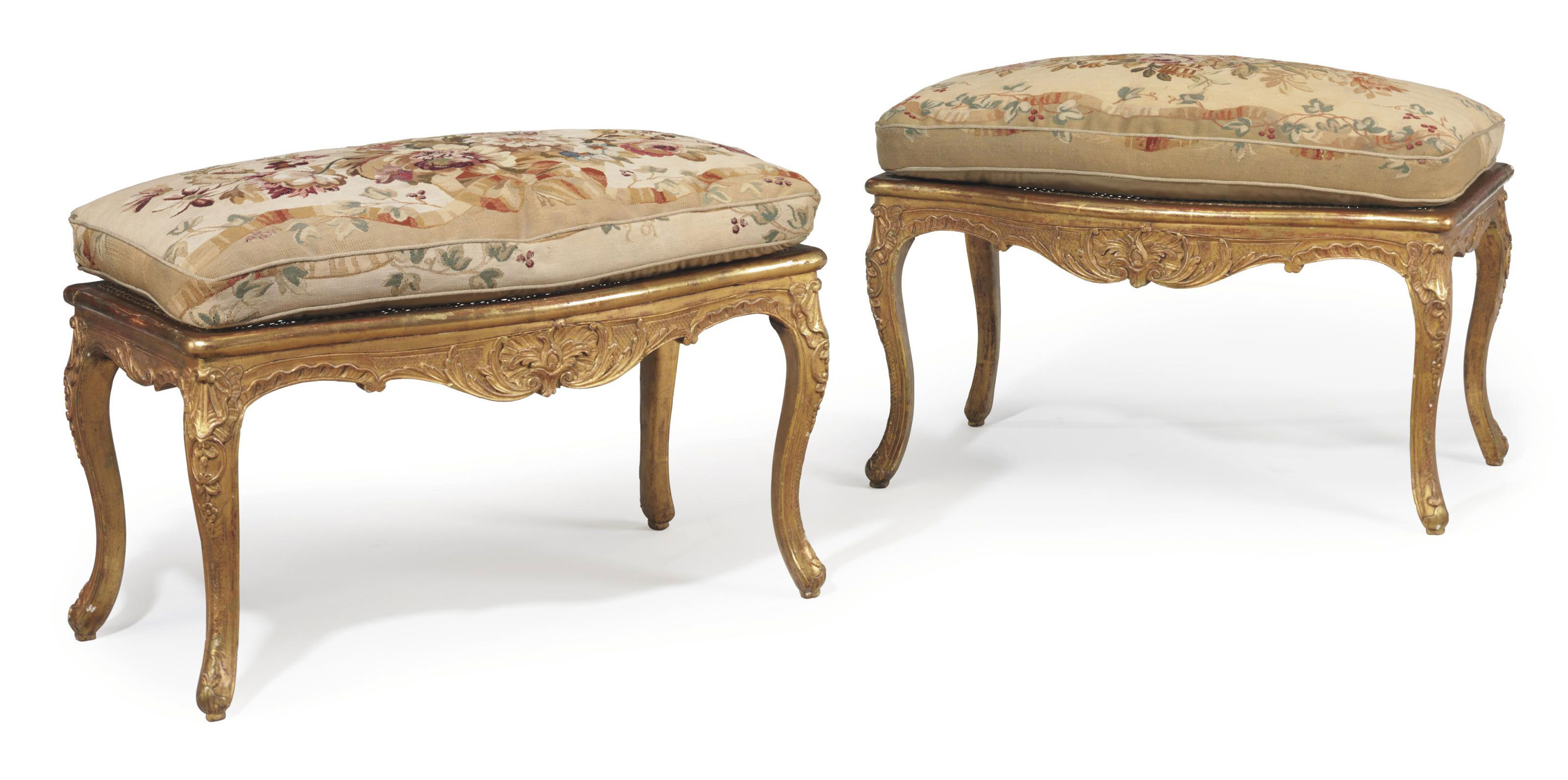 A PAIR OF LOUIS XV GILTWOOD WI