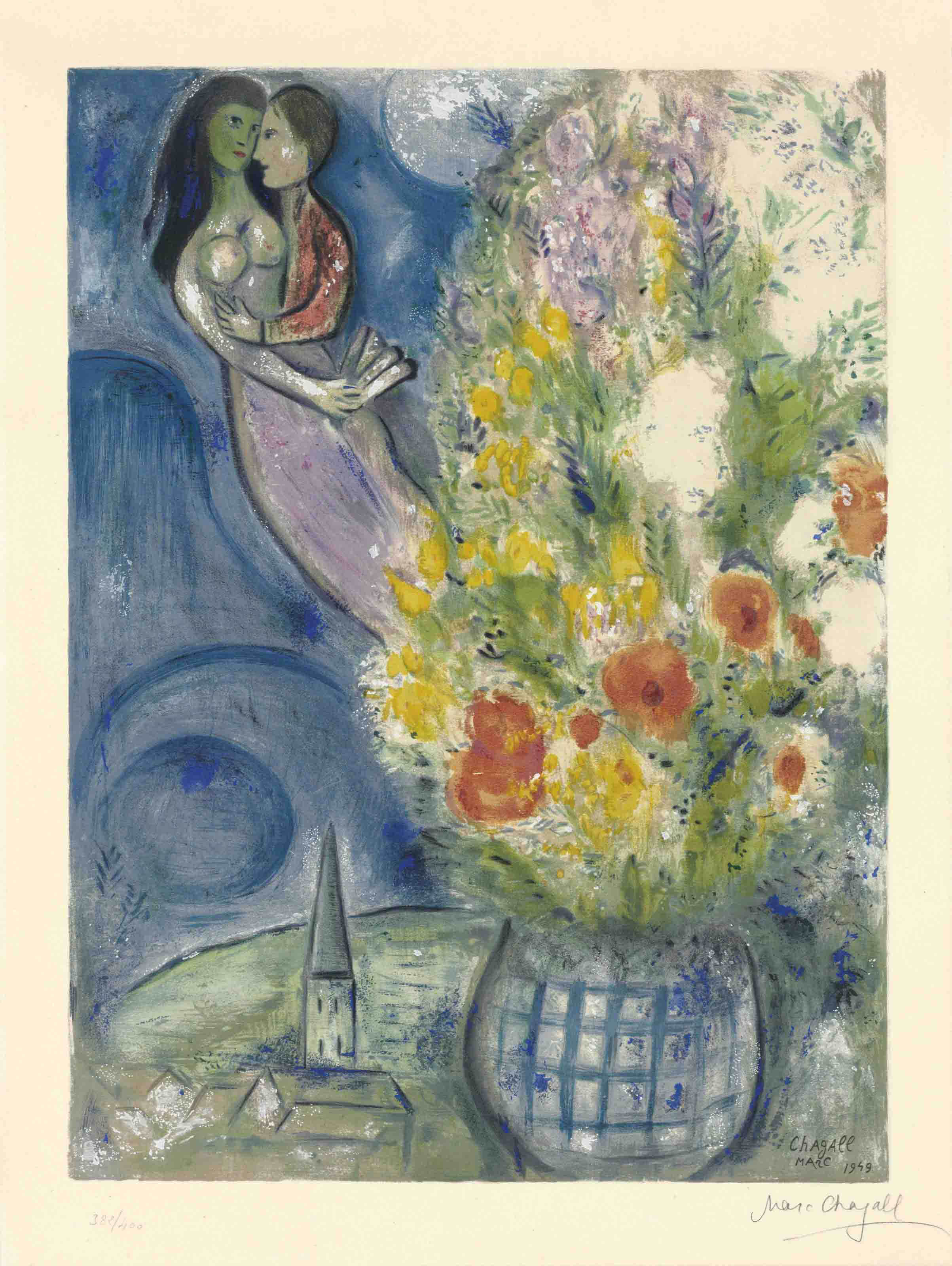 AFTER MARC CHAGALL BY CHARLES SORLIER (1921-1990)