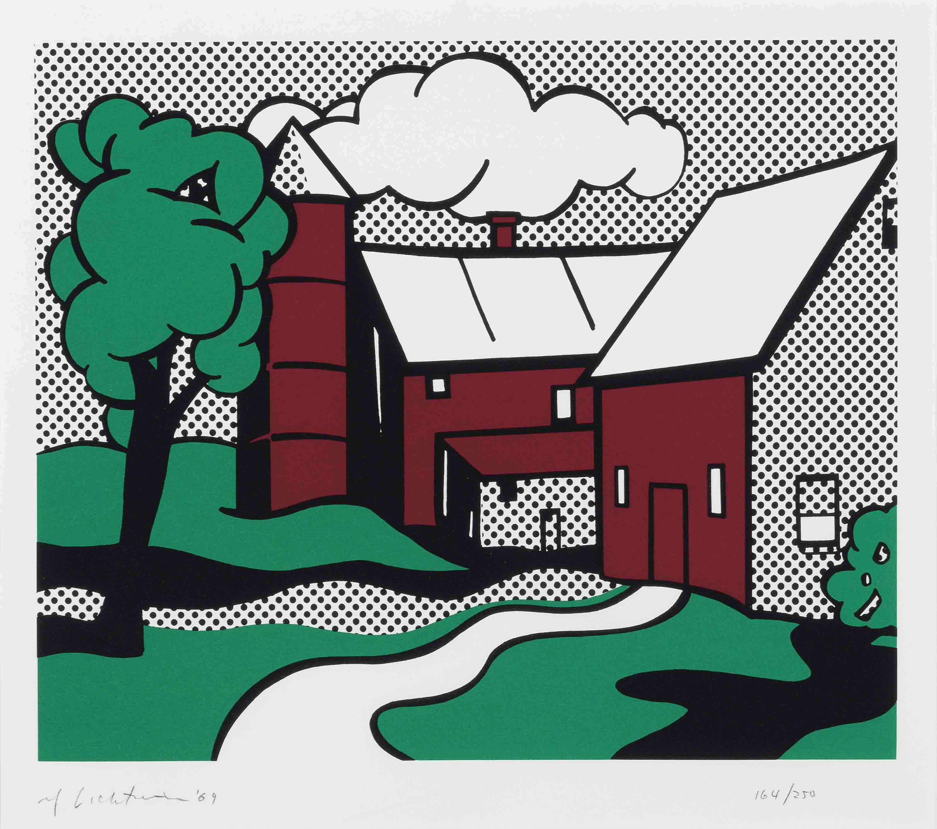 ROY LICHTENSTEIN | Red Barn (C. 89) | 1960s, Prints & Multiples ...