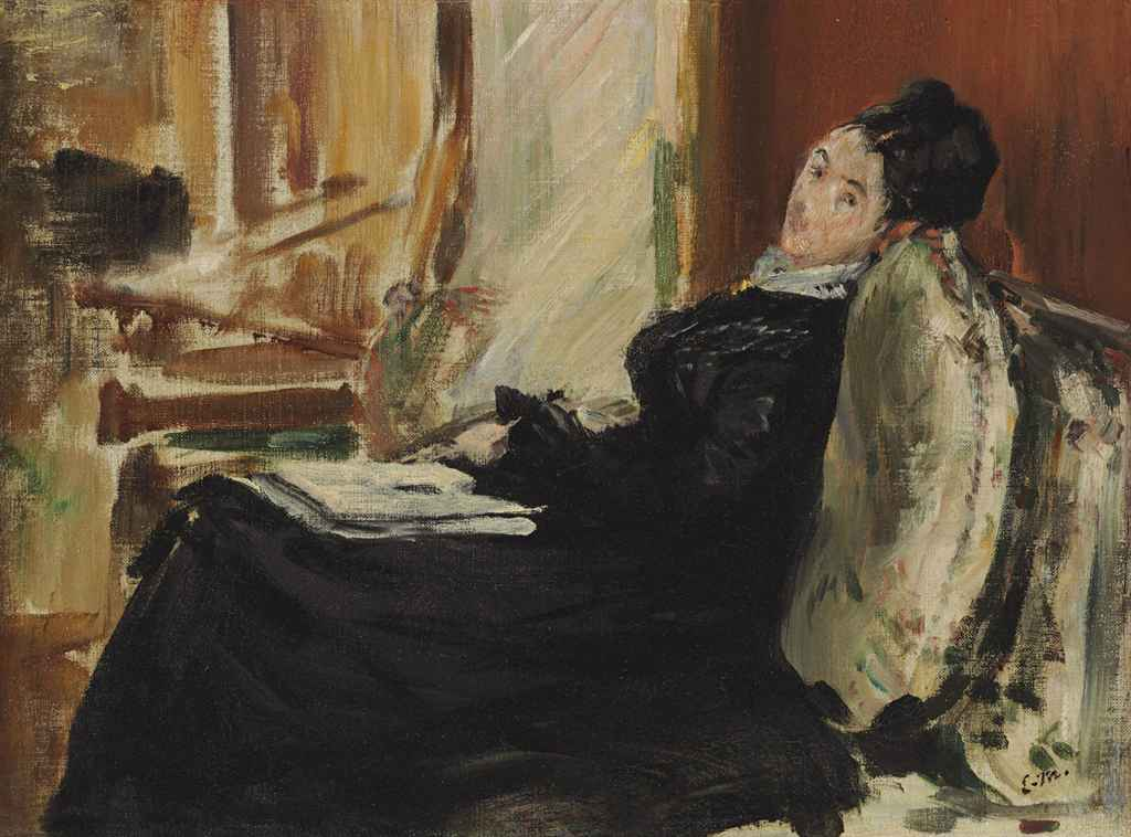 Edouard Manet (1832-1883) <BR> Jeune femme au livre <BR>