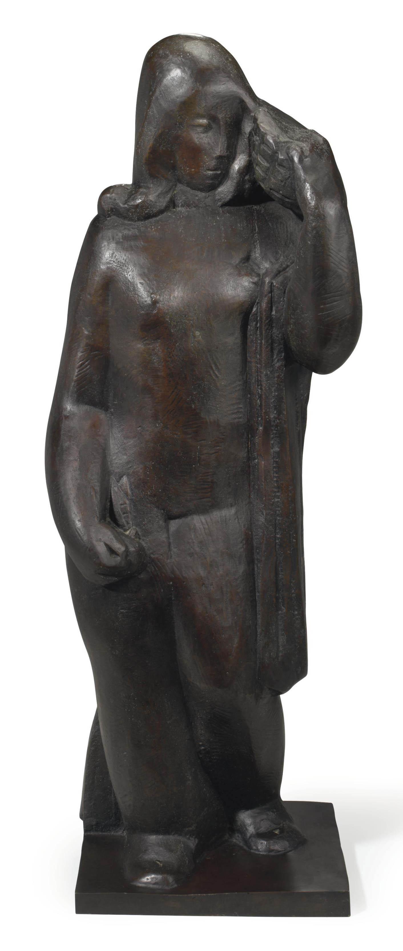 Femme au panier sur l'épaule or Femme nue au panier