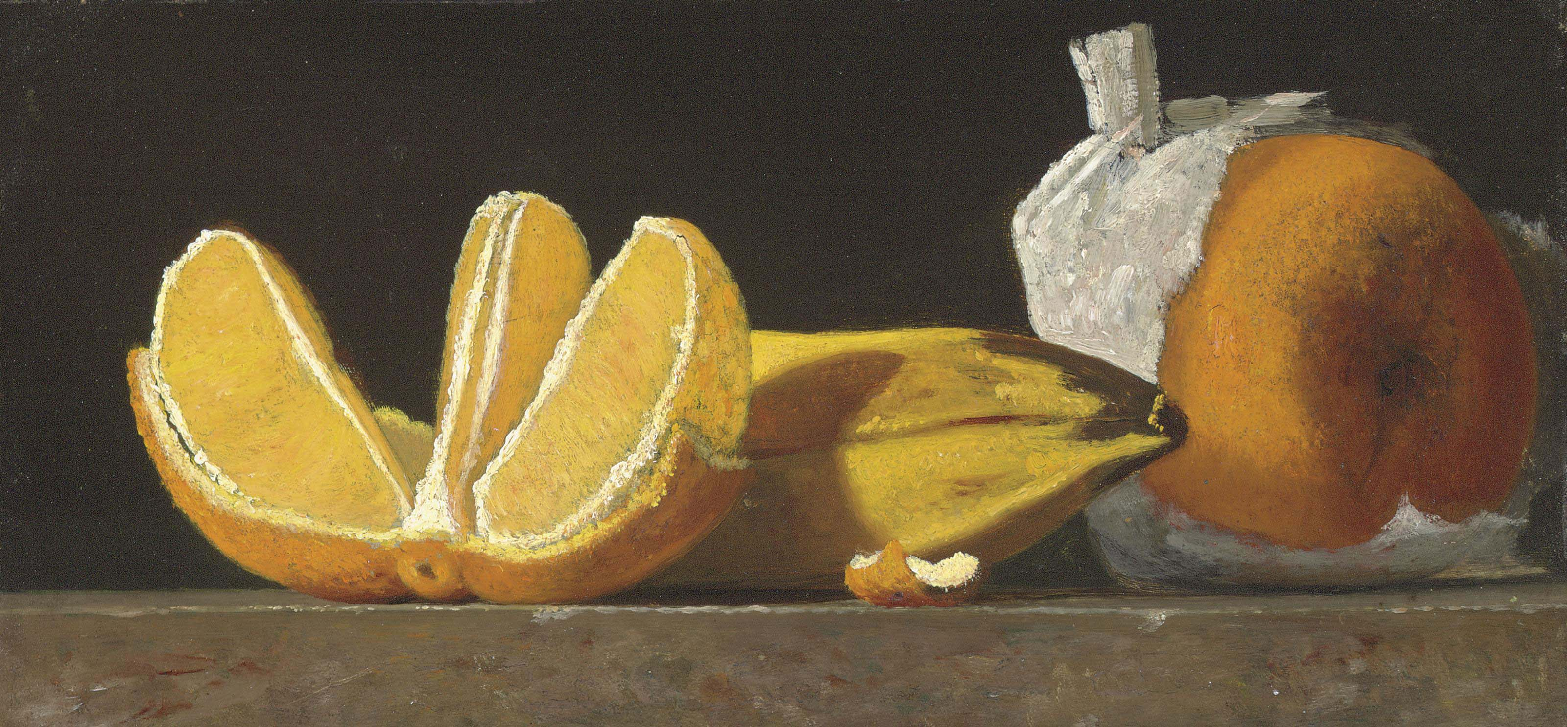 Still Life with Oranges and Banana