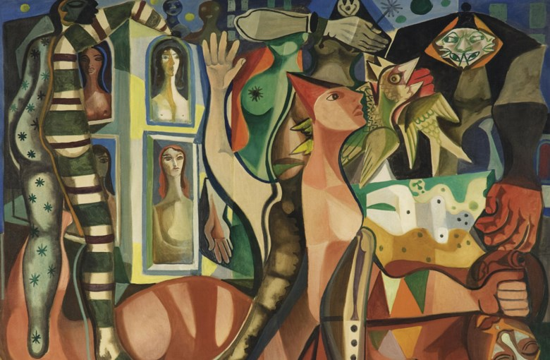 Emiliano di Cavalcanti (1897-1976), Sonhos do carnaval, 1955. Oil on canvas. 51 x 63  in (130 x 160  cm). Sold for $782,500 on 26-27 May 2011 at Christie's in New York. Artwork © DACS 2020