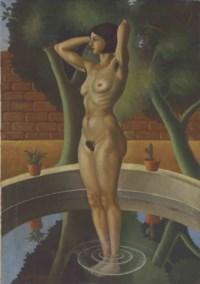 Desnudo en una fuente
