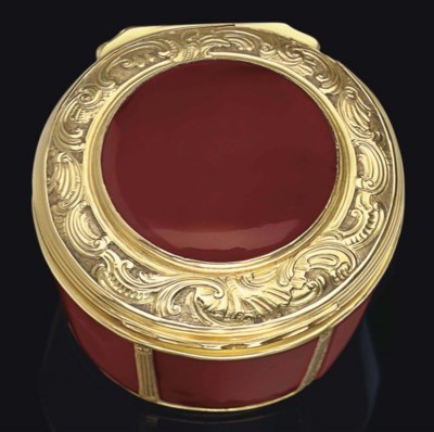 A GERMAN GOLD AND HARDSTONE SN