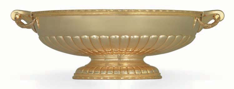 AN AMERICAN GOLD CENTERPIECE BOWL