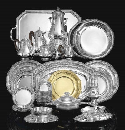 A FRENCH SILVER TEA AND COFFEE
