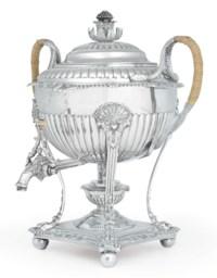 A REGENCY SILVER TEA URN**