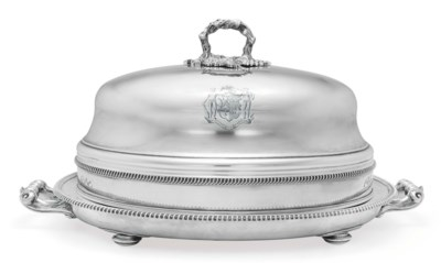 A VICTORIAN SILVER-PLATED MEAT