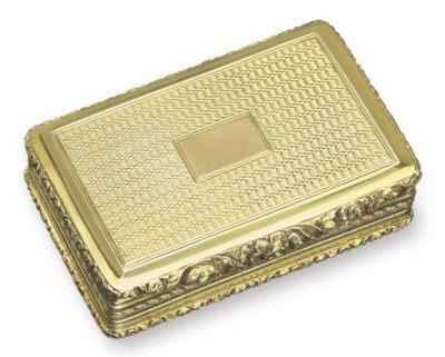 A GEORGE IV SILVER SNUFFBOX