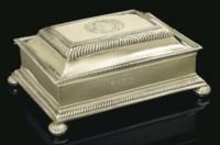 A FINE WILLIAM III SILVER-GILT CASKET