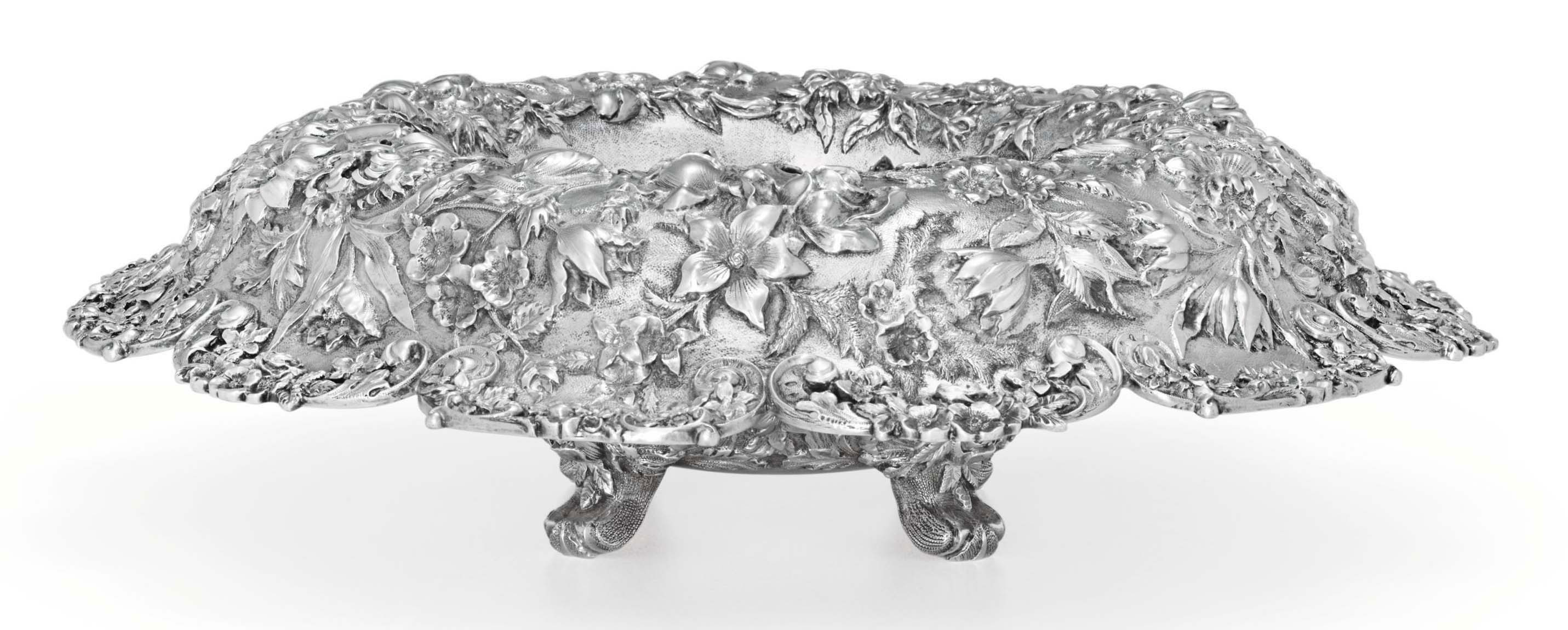 AN AMERICAN SILVER CENTERPIECE BOWL