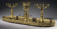 AN EMPIRE ORMOLU TABLE GARNITURE