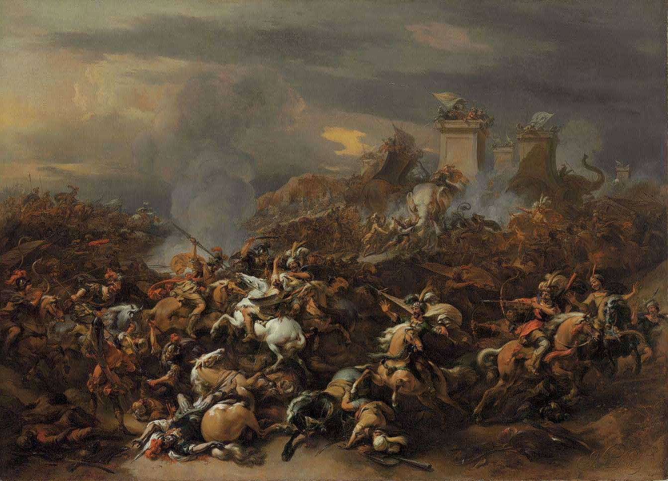 The Battle between Alexander and Porus