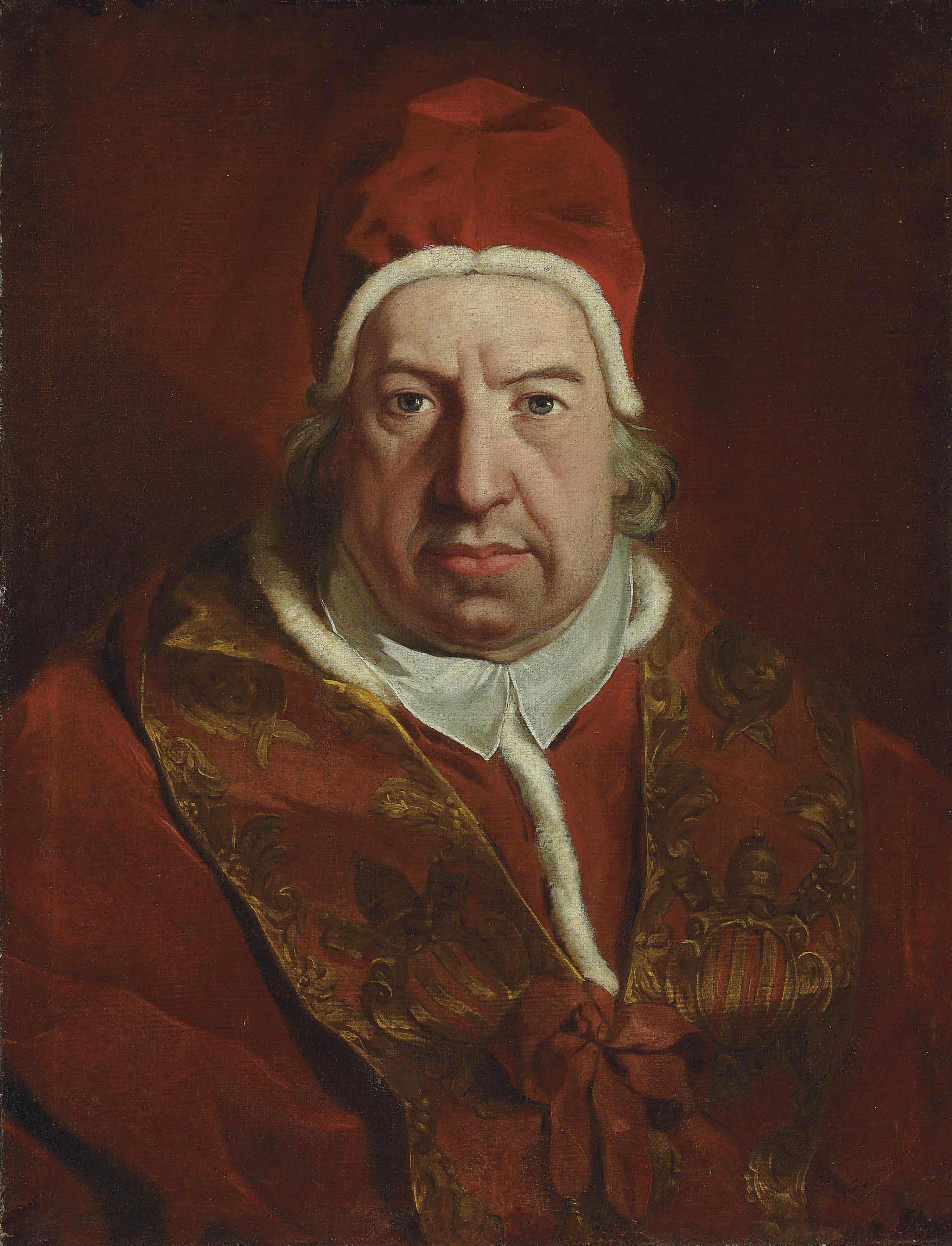 Portrait of Pope Benedict XIV, bust-length