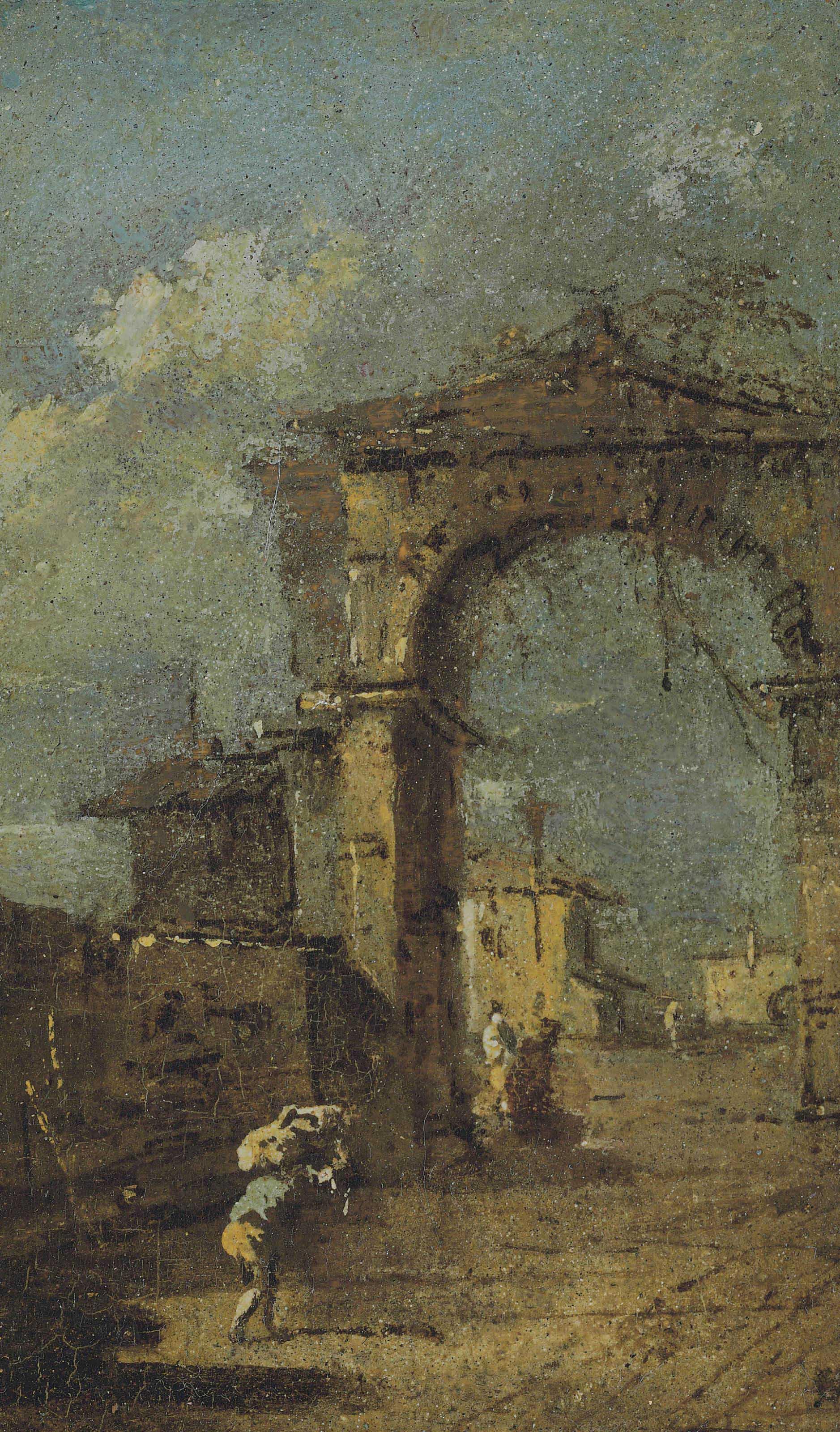 Francesco Guardi: Francesco Guardi (Venice 1712-1793) , Capriccio Of A