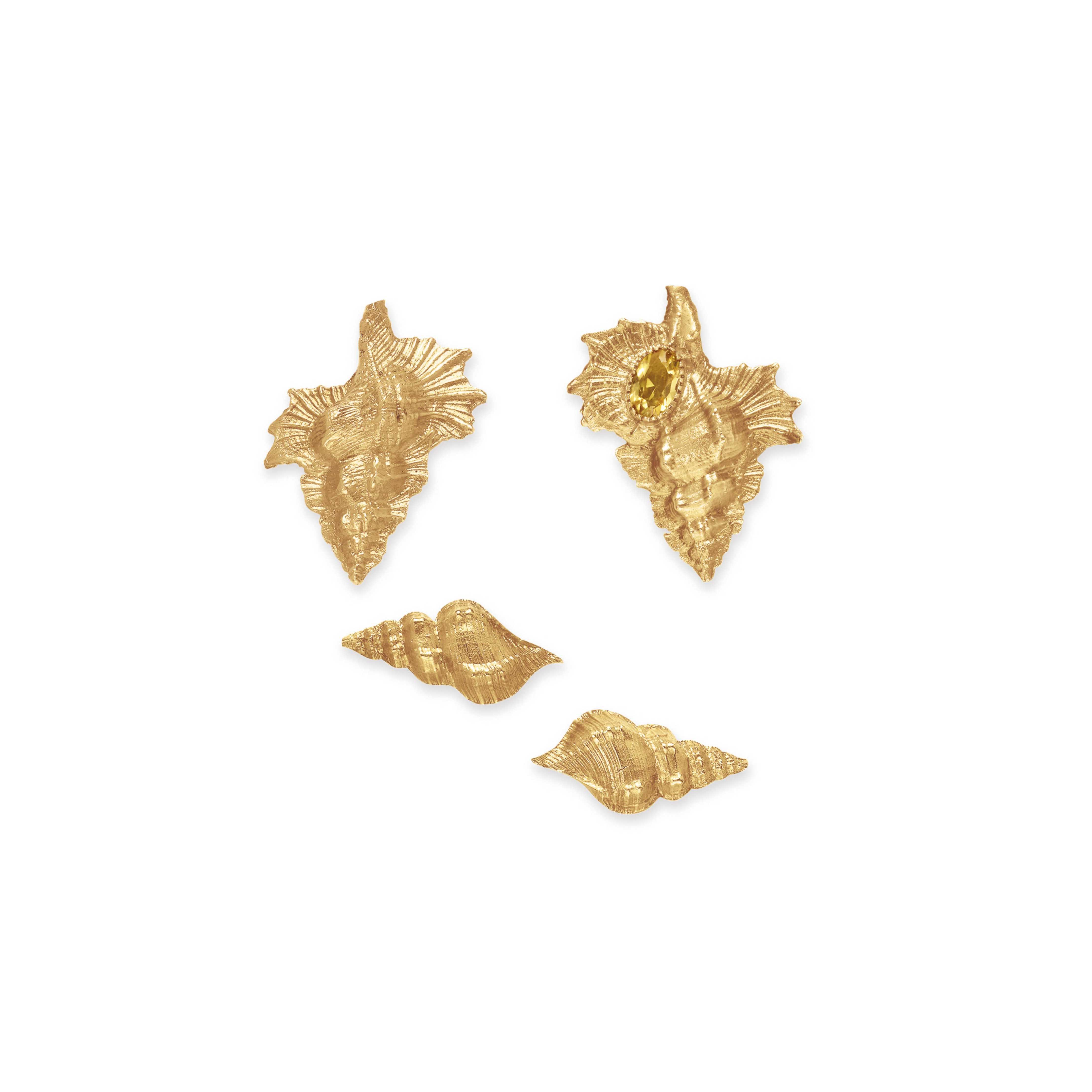 A SET OF GOLD SHELL JEWELRY, BY EDMOND FORET