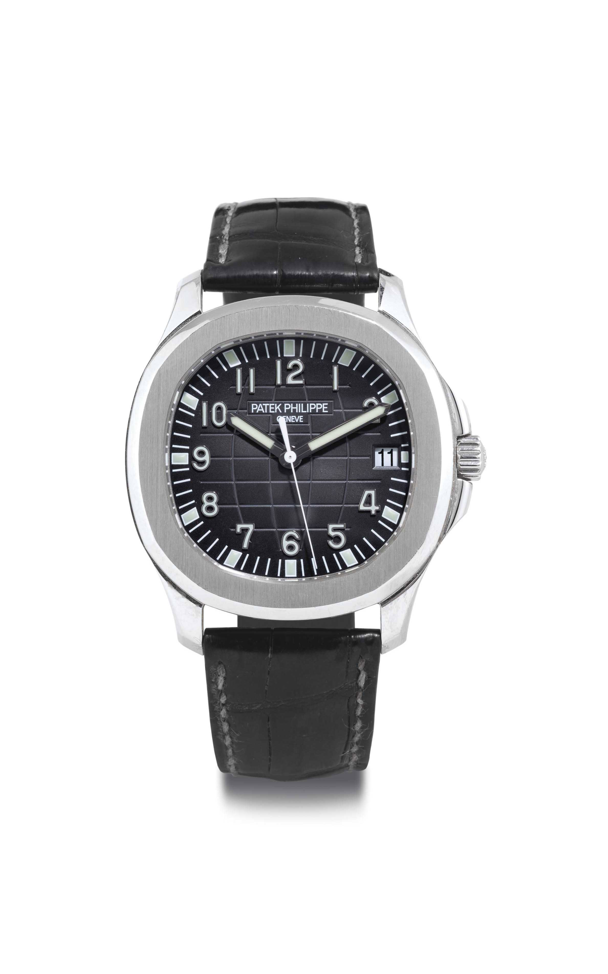 Patek philippe a stainless steel automatic wristwatch with date and center seconds signed for Patek philippe geneve