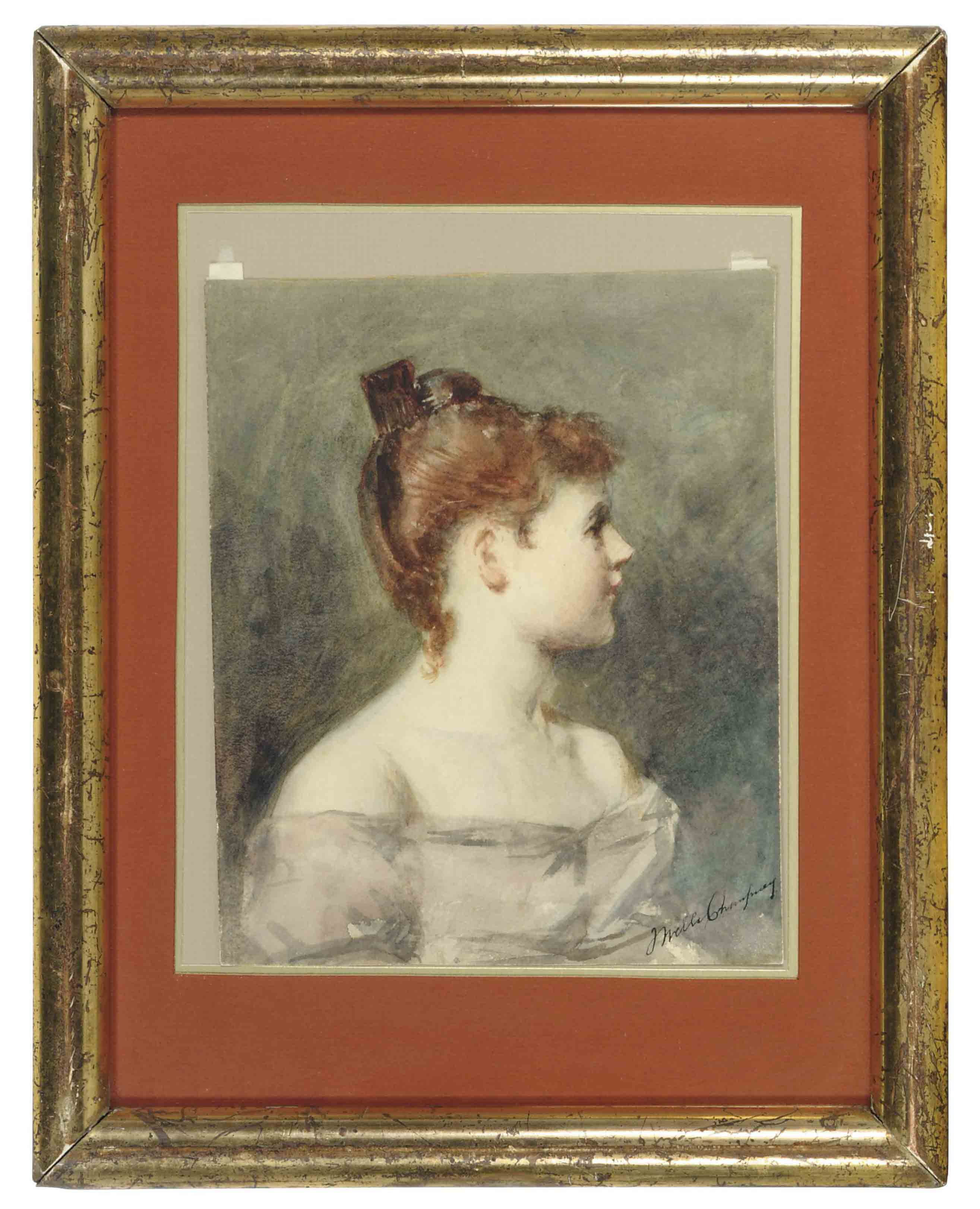 Portrait of an elegant young woman