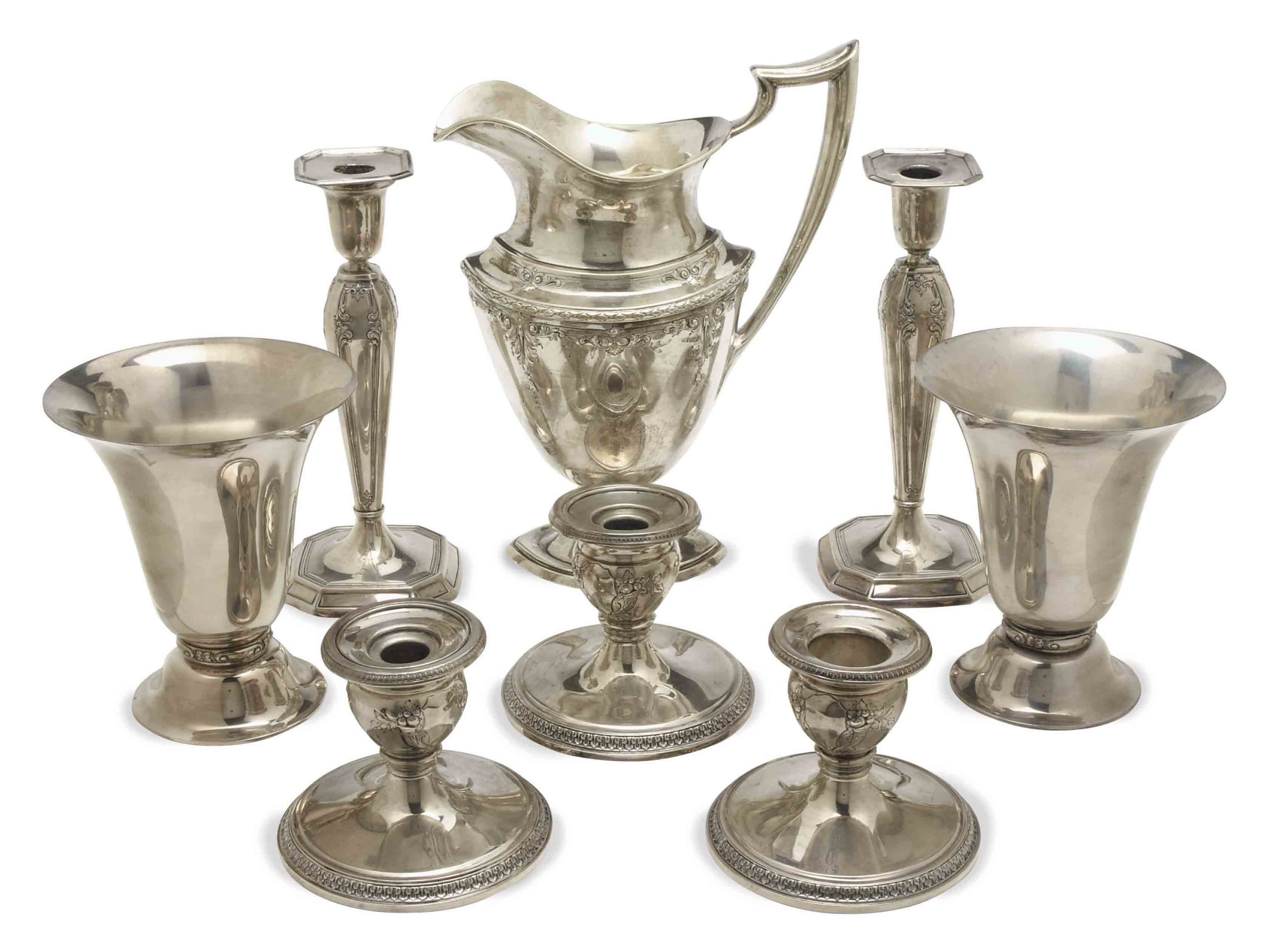 A GROUP OF AMERICAN SILVER TABLE ARTICLES,