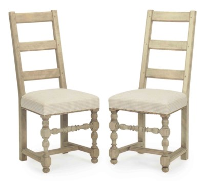 A SET OF SIX FRENCH BLEACHED B