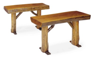 A PAIR OF FRENCH RUSTIC CHESTN