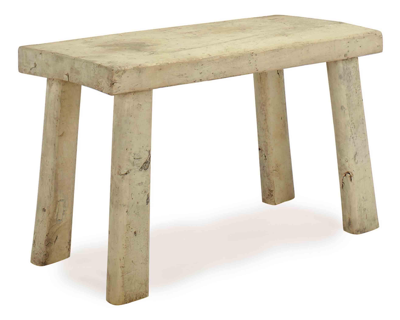 A RUSTIC POPLAR CENTER TABLE,