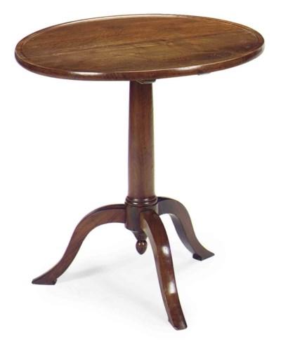 A FRENCH WALNUT TRIPOD TABLE,