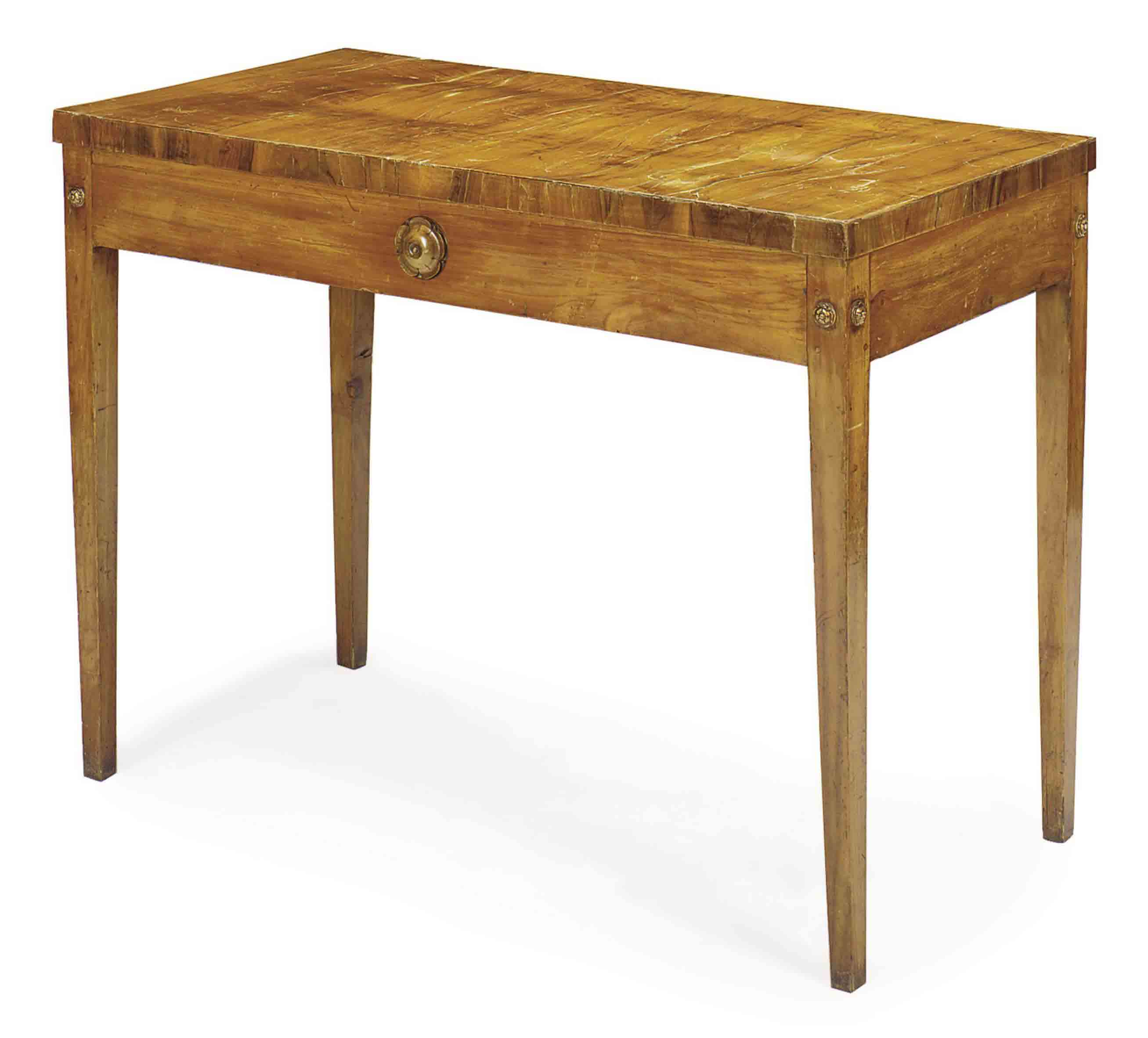 AN ITALIAN OLIVEWOOD TABLE,